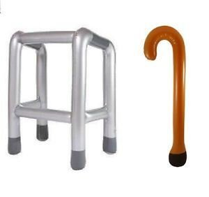 Inflatable Zimmer Frame and Walking Stick Joke Gift