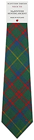 Mens All Wool Tie Woven Scotland - MacKintosh Hunting Ancient Tartan