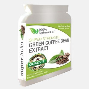 Green Coffee Bean Capsules 100% Natural Co Super Strength Extract from 100% Natural Co.