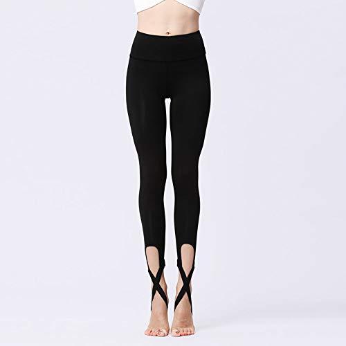 Leggings snellenti a vita alta pantaloni yoga pantaloni traspiranti per sport all'aria aperta (color : black, size : l)