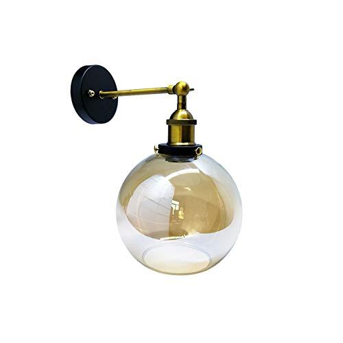 Matthew00Felix 20cm Post Modern Wandleuchte Branche Eisen Modo Glaskugel-Lampen-Beleuchtung-Befestigung -