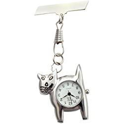 Shiny Cat Fob Watch Great Midwife Nurse Gift Present