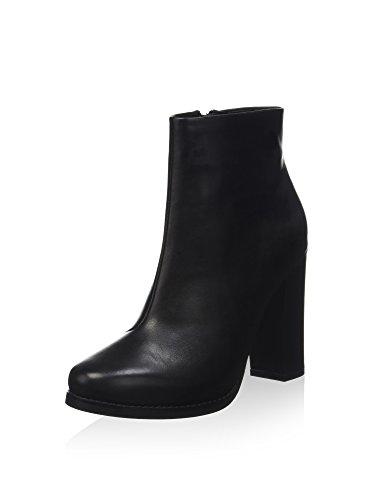 Búfalo Senhoras Couro Ankle Boot Preta 414-7824