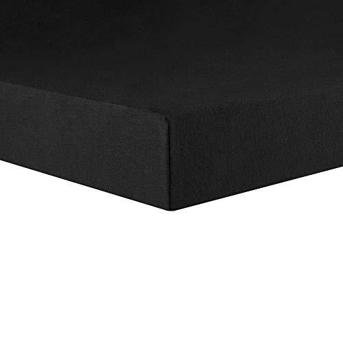 CelinaTex Lucina Topper Spannbettlaken 180x200 - 200x200 schwarz Baumwolle Spannbetttuch
