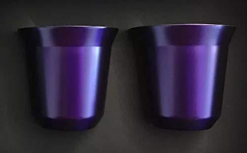 Pixie - 2 tasses à café nespresso violettes