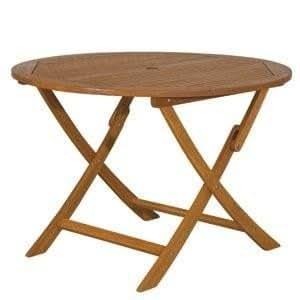 HG MONTREAL Tisch 120 cm Druchmesser klappbar Eukalyptusholz