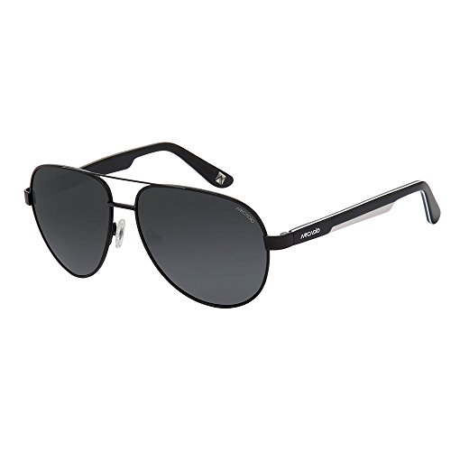 ARCADIO Aviator Sunglasses (Grey)- (AR186BK-GYP)