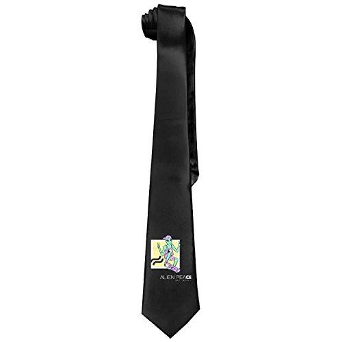 Alien Peace Skateboard Alien Workshop Decks Men's Cotton Printing Skinny Tie Necktie Length 143-145cm