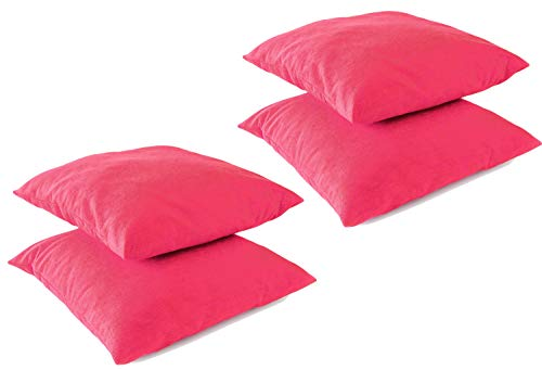 Leonado Vicenti Kissenbezug Kissenhüllen 4 Stück Baumwolle Renforce 50x50 cm Pink mit Reißverschluss