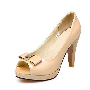 Lässig Weiß sandalen Damen amp; Almond blockabsatz Festivität Lvyuan kleid rosa Mandelfarben pu andere Party PgZRxW