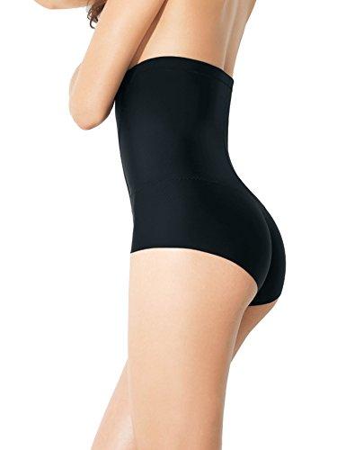Secret PA0836 Miederslip Modellierende Figur-Formende Damenmiederhose mit Hoher Taille Bauch-weg-Effekt für einen Flachen Unterleib aus Elastischer Mikrofaser Weiß