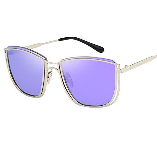 REALIKE Unisex Damen Herren Mode Übergroße Sonnenbrille Klassische Quadrat Rahmen Brille Super...