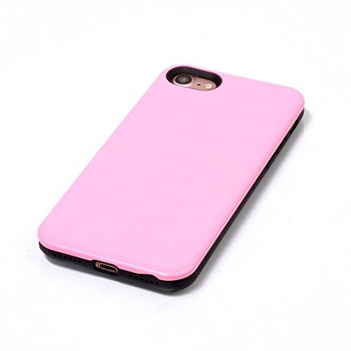 2 in 1 Solid Color PU + TPU Kombination zurück Fall Deckung für iPhone 7 BY EKINHUI ( Color : Pink ) Pink
