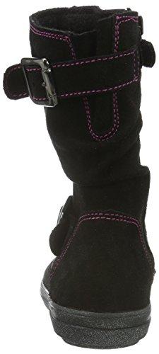 Richter Kinderschuhe Ilva, Bottes et bottines à doublure chaude fille Noir - Schwarz (Black/Fuchsia 9901)