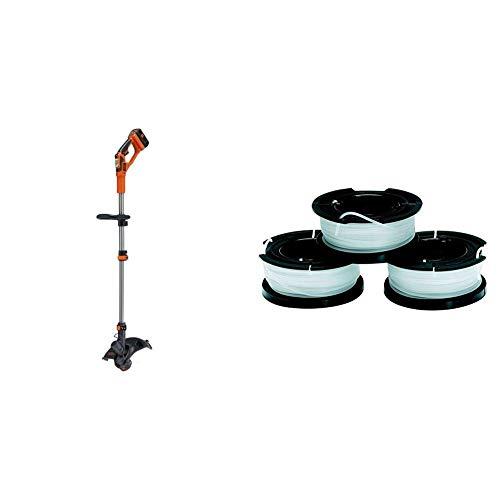 BLACK+DECKER Cortabordes a batería 36V, 2Ah, ancho de corte 30 cm + Black+Decker A6485-XJ 3 bobinas...