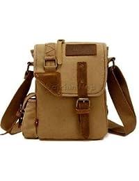 Alcoa Prime New Khaki Casual Canvas Messenger Bag Crossbody Shoulder Pack Purse For Men