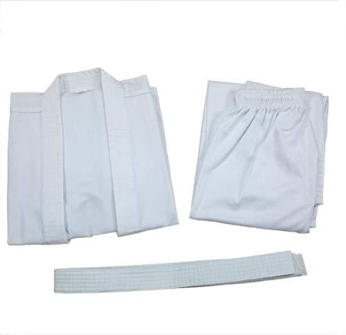 CHLXI Professionelle Karate Anzug Erwachsene Jungen und Mädchen Baumwolle Karate Trainingsanzug Wettbewerb Anzug weiß