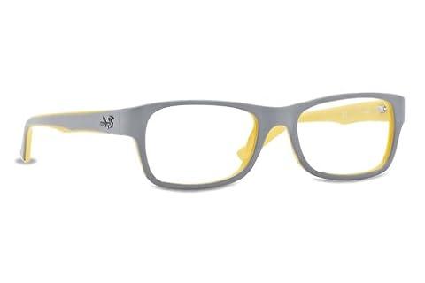 Ray Ban Optical Men's Rx5268 Grey On Yellow Frame Plastic Eyeglasses, 50mm