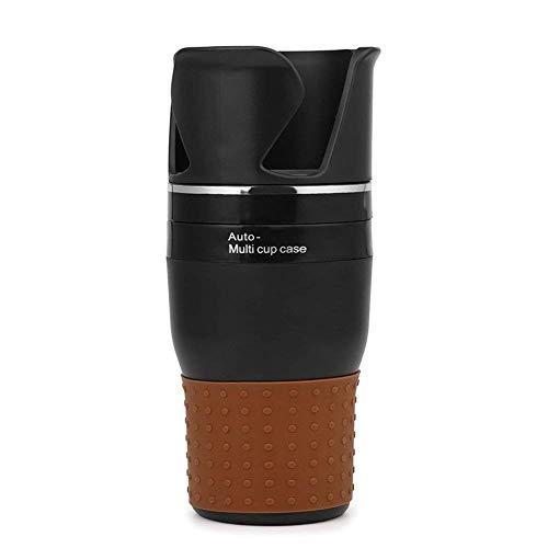 TOOGOO Auto Multi-Becherhalter-Multifunktions Organizer 4 in 1 Flasche Einsatz Fuer Wasser Trinkt Kaffee Handy-Sonnenbrille (Schwarz)