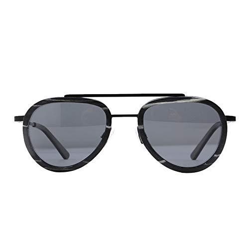 DelongKe Retro Sonnenbrille Rund Klein,Federscharnier Für Herren Und Damen UV400 Schutz - Ideal Zum Autofahren Städtetouren,Gray