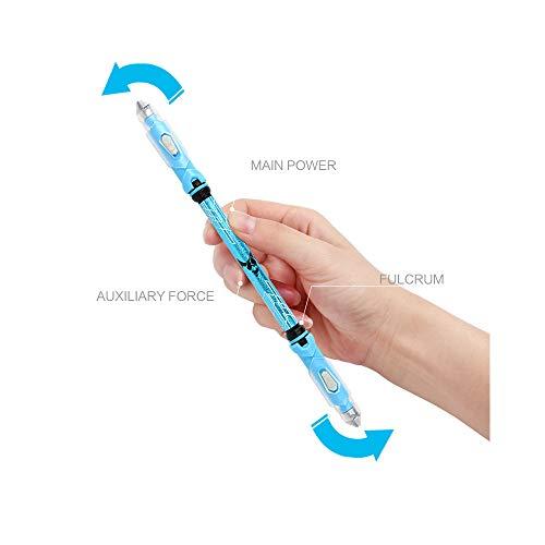 Cool Spinning Kugelschreiber Rotierender Gaming Kugelschreiber Non Slip Coated Spin Rolling Pen Blaue Tinte Refill Matting Finger Spielen Stift 2 stück