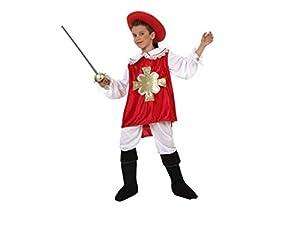 Atosa-69089 Atosa-69089-Disfraz Mosquetero-Infantil 10 a 12 años- NIño- rojo, Color (69089)