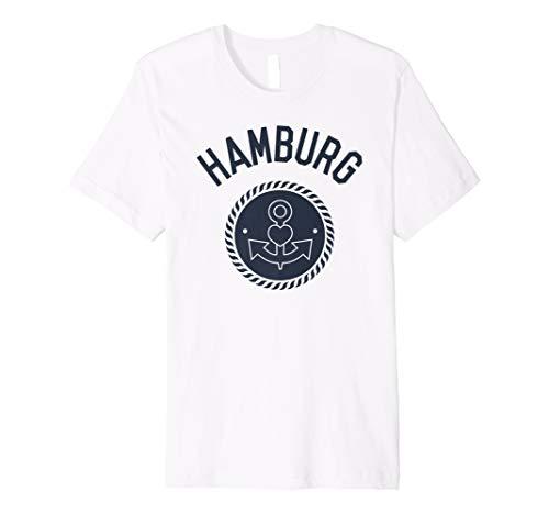 Hamburg Elbe Souvenir Anker mit Herz T-Shirt