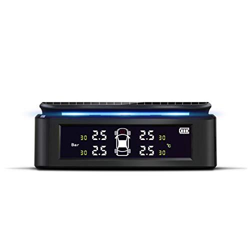 Yzki Reifendruckkontrollsystem, USB-Ladegerät, LCD-Display, universeller Autoreifendruck-Monitor mit 4 externen Sensoren