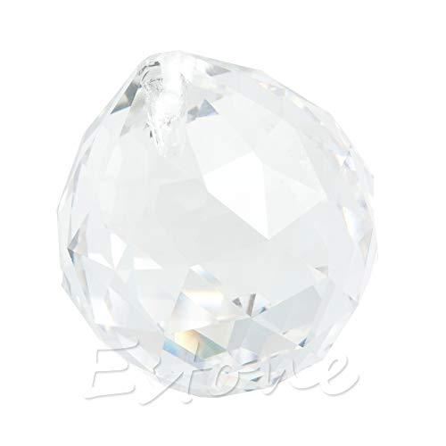 Xuniu 1 Stück Klarem Kristall Feng Shui Lampe Ball Prisma Regenbogen Sun Catcher Hochzeit Decor 30mm - Regenbogen-licht Gesunde
