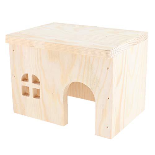 Kleintierhaus Nagerhaus Holzhaus für Hamster, Meerschweinchen, Eichhörnchen, Ratten, Chinchillas - 15x11x11cm