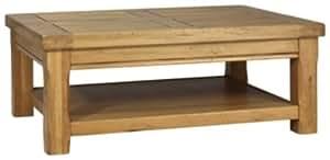 Parisot 0701TABA Artisan Table Basse Bois Chêne 42,5 x 110 x 80 cm