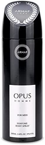 Armaf Opus Homme Deodorant for men 200 ML - Perfumes - body spray for men - Fairness, fresh, relaxing all day