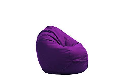 Bruni Kinder-Sitzsack Classico S in Violett - Sitzsack mit Innensack für Kinder, Abnehmbarer Bezug, EPS-Perlen als Bean-Bag-Füllung, aus Deutschland