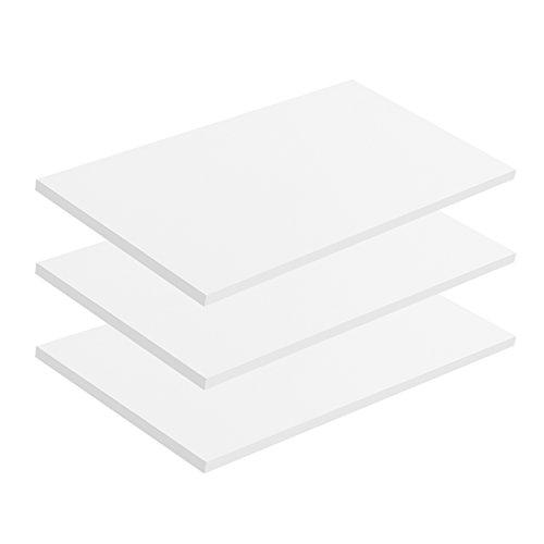 mokebo® \'Die Einleger\' Einlegeböden Mehrzweckschrank, Aktenschrank, Schuhschrank, Kleiderschrank, 57x1,5x29,5 cm (B/H/T), Made IN Germany!, Sets:3er-Set