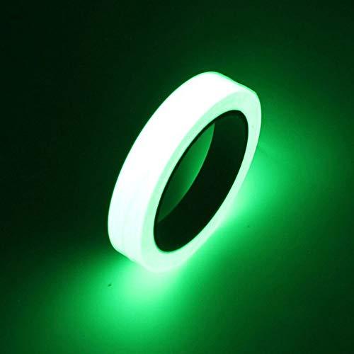 Glow Tape, Buery Leuchtband, 90 x 2 cm, wasserfest, leuchtet im Dunkeln, fluoreszierendes Klebeband, abnehmbar, für Treppen, Bühnen, Innenpartys, Angeln