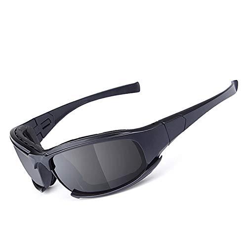 KnBoB Sonnenbrille Tactical Motocross Brille Verspiegelt Brille Anti Rutsch Schwarz