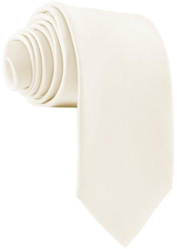 ADAMANT Herren Krawatte Klassische Form Champagner Weiß 7cm Breit