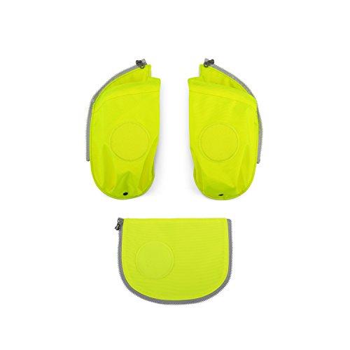 ergobag cubo Seitentaschen Sicherheits-Set Gelb (Seitentasche Rucksack)