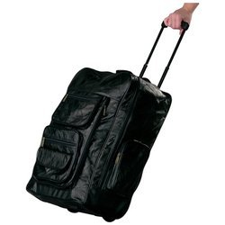 Embassy 22-1/4'' Italian Stone Design Genuine Leather Super-Deluxe Trolley/Backpack