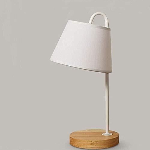 Hardworking bee Modern, Nordic, stark vereinfacht, Minimalist, Massivholz LED-Schreibtischlampe, Nachtlicht for Schlafzimmer, Arbeitszimmer, Schlaf mit freiem 3W LED Birne, Weiß hohe Geschmack -