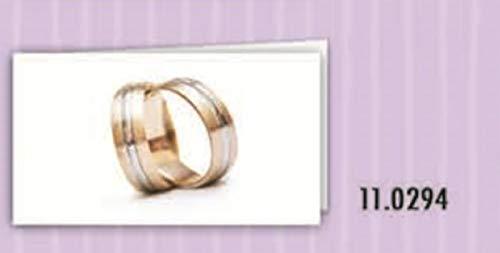 100 pz bigliettini bigliettino bomboniera matrimonio con fedi nuziali