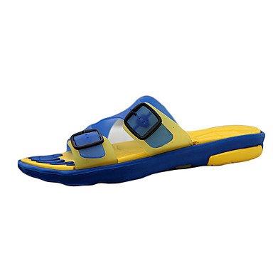Slippers & amp da uomo;Primavera / Estate / Autunno Comfort silicone casuale Nero / Blu / Marrone / Ye sandali US8 / EU40 / UK7 / CN41