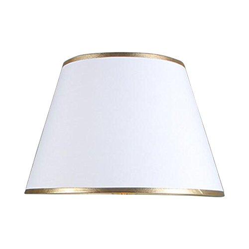 DULEE 18 * 30 * 20cm Einfache Tischleuchten Lampenschirm Nachttisch Lampenschirm Wandleuchte Lampenschirme, Weiß mit Goldrand