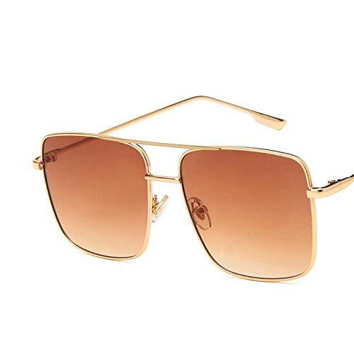 YUHANGH Plus Size Herren Quadrat Sonnenbrille Frauen Mode Berühmte Metall Gold Rosa Sonnenbrille Eyewear Gafas De Sol