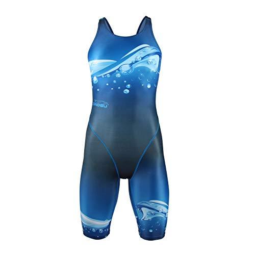 ZAOSU Damen & Mädchen Wettkampf-Schwimmanzug Z-Wave | Competition Sport Badeanzug, Größe:176/36