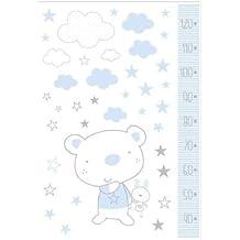 Pirulos 54213013 - Vinilo, 100 x 70, diseño osito star, color blanco y azul