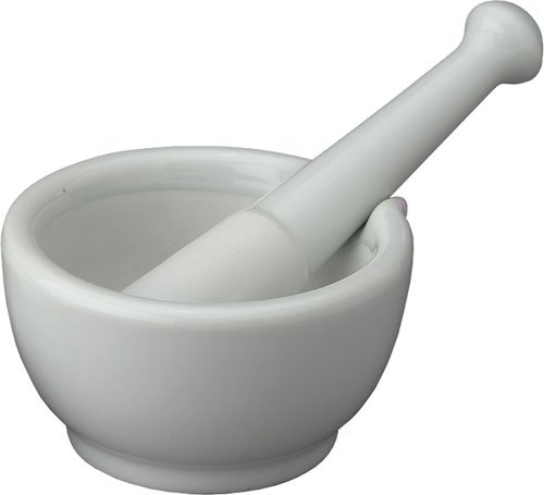 Harold Import Large Porcelain Mortar & Pestle With Pour Spout Beautiful Ceramic (Suppe, Hand Mixer)