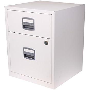Bisley A4 2 Drawer Filing Cabinet on Wheels - Color: Chalk White ...