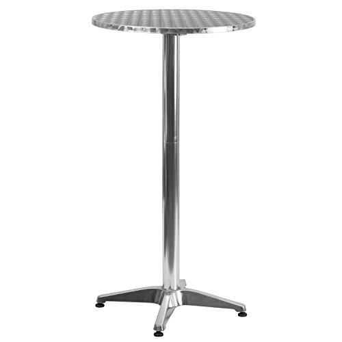 Flash Furniture Runder Tisch aus Aluminium, für drinnen und draußen, 60 cm