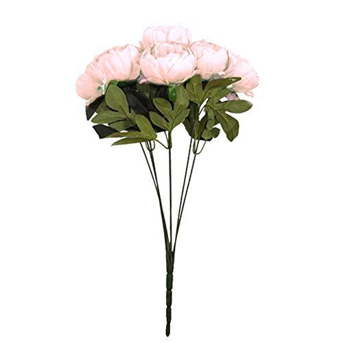 simulation pivoines bouquet supporte 47 cm de long, fleurs artificielles décoratives pour des bouquets de mariage, maison, hôtel, jardin, événement de Nouvelle année